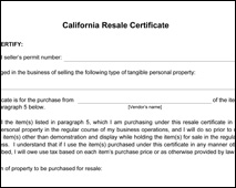 California Reseller ID Form